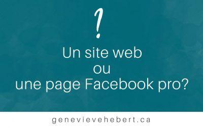 Un site web ou une page Facebook pro?